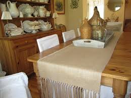 decorating awesome burlap table runner in tan theme wooden of burlap runner round table