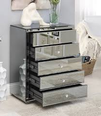 vegas white glass mirrored bedside tables. Vegas White Glass Mirrored Bedside Tables B