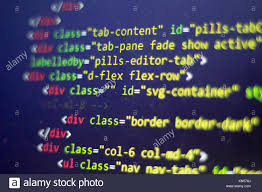 Html Code Computer Programming Source Code Abstract Screen Of Web