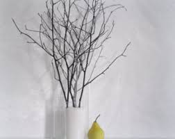Small Picture Tree branches home decor vase filler set of 7 teal light