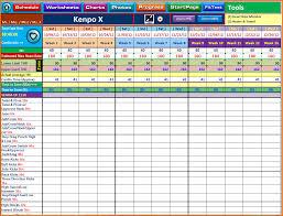 Workout Spreadsheet 7 Workout Tracker Divorce Document