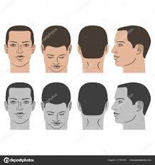 男の髪型セット ストックベクター Arlatis 171372570