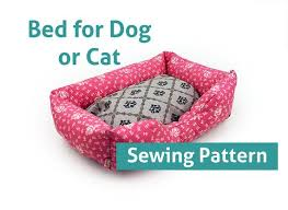 Dog Bed Patterns Best Sewing Pattern Dog Cat Bed Pattern Pet 48 Sizes Pillow Sew Sofa
