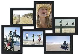 mondrian puzzle collage picture frame 6 option 2 4x4 2 4x6 1 5x5 1 5x7 black holds six photos by malden international designs usa com