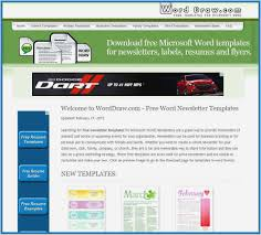 Free Templates For Newsletters In Microsoft Word Templates