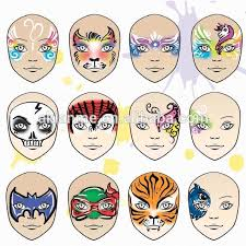 high quality water based face paint stencils art face painting kit