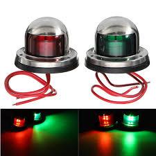 Marine Lights 12v Yacht Led Navigation Lights Stainless Steel Bow Marine Boat Red Green Lamp