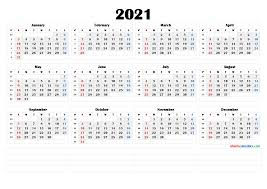 High quality for document and high resolution image Free Printable 2021 Yearly Calendar With Week Numbers 6 Templates Free Printable 2021 Monthly Calendar With Holidays