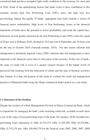 Evaluation Of Credit Risk Management Practices In Ghana