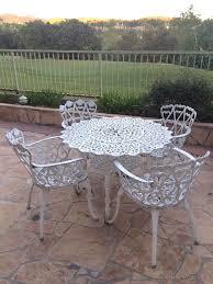 vintage cast aluminum white outdoor