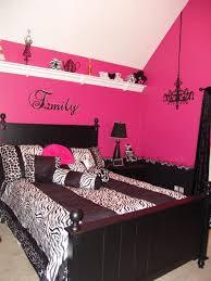 Bedroom Designs For Teenage Girl Awesome Pink And Black Teen Zebra Girls Bedroom Girls' Room Designs