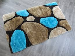 stylish thick super soft fluffy 3d deep textured deep pile plain gy rugs mat teal blue colour