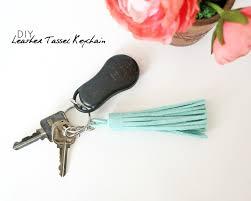 easy diy leather tassel keychain