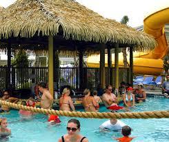 guests at swim up bar schlitterbahn galveston waterpark