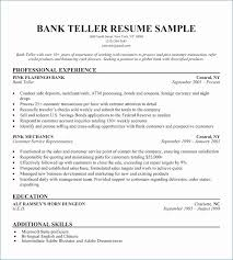 Resume Sample For Bank Teller