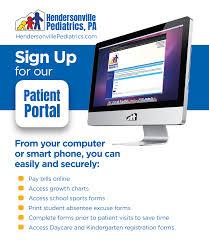 Nc Smart Chart Patient Portal Sign Up For The New Patient Portal Hendersonville Pediatrics
