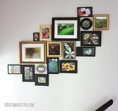 for the wall next to your staircase try creating a colorful nature based collage that ascends with the staircase
