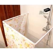 ideas corner shower curtain rod