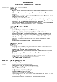 Proposal Specialist Resume Samples Velvet Jobs