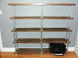 diy pipe shelves freestanding easy free standing pipe shelf idea on meets craftsman may inspired home