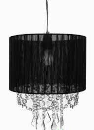 chandelier with black fabric shade
