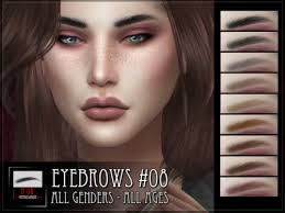 Lana CC Finds - Eyebrows #08 | Sims 4, Sims, Sims 4 cc skin