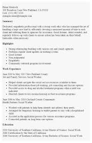58 Awesome Photos Of Social Work Resume Sample Best Of