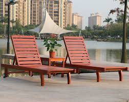 rattan yixuan outdoor wood deck chair recliner lounge pool regarding wooden chaise chairs designs 12