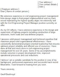 sample civil engineering cover letter