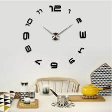 china 2017 pvc sticker wall clock for home china wall mounted clock wall watch