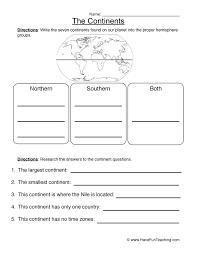 Map Worksheets | Have Fun Teaching