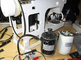 diy sewing machine retrofit scanlime new motor old motor