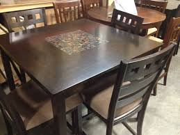 dining room tables with tile inlay
