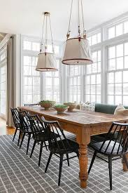 And if you prefer a small rustic table with clean lines, there round industrial farmhouse dining table: Black Spindle Chairs At Farmhouse Dining Table Cottage Dining Room