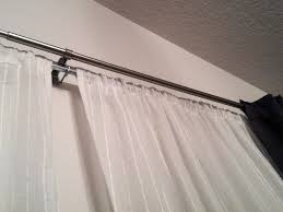 marvelous ideas double curtain rods sensational design two pairs of diy curtains for my dining
