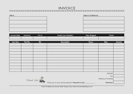 009 Free Printable Invoice Form Template Resume Templates Forms To
