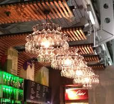 wine glass chandeliers