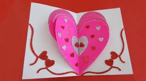 valentines day heart card valentine s day pop up card tutorial for friend boyfriend you