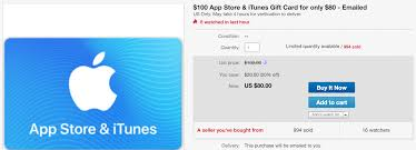 itunes at a 20 is nice not so mon there are a bunch of other gift card deals on ebay we ered earlier this week