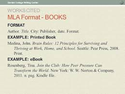Mla Formats For Works Cited In Text Citations And Works Cited Ppt Download