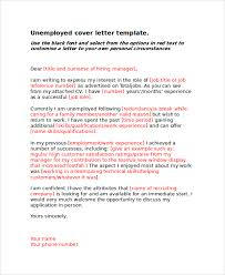 basic unemployed cover letter basic cover letters samples