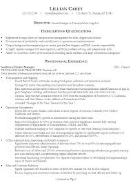 Sample Resume for Senior Manager Transportation Logistics ...
