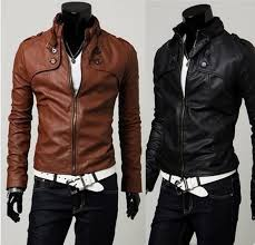 leather jackets for men 2016 fashion new korean slim stand up collar sport jackets mens