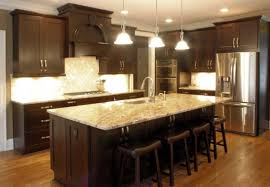 Kitchen Cabinet Espresso Color Platinum Kitchens Espresso Kitchen W Typhoon Bordeaux Granite