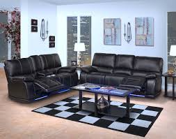 Living Room Leather Sets Classic Electra Power Motion Reclining Living Room Set In Mesa Black