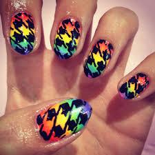 Wah Nail Designs Rainbow Houndstooth Wah Nails Rainbow Nail Art Nail Art