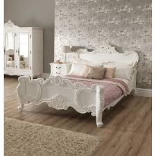 white shabby chic bedroom furniture. La Rochelle Antique French Style Bed White Shabby Chic Bedroom Furniture