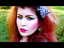 80 s retro rainbow makeup tutorial video clip
