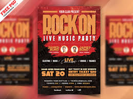 Event Flyers Free Live Rock Music Event Flyer Psd Psdfreebies Com