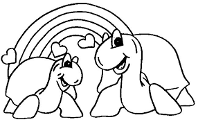 Small Picture Turtle coloring pages two turtles in love ColoringStar